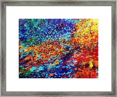 Composition # 5. Series Abstract Sunsets Framed Print