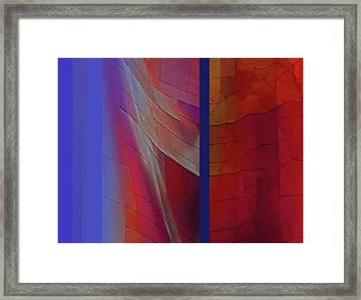 Composition 0310 Framed Print by Walter Fahmy