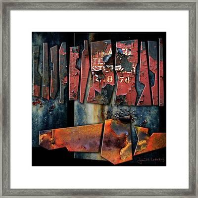 Composition 2 Framed Print by Joan Ladendorf