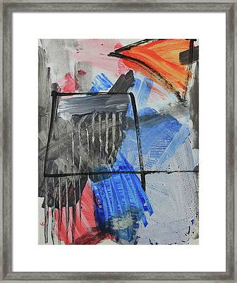 Composition 20188 Diptych Left Panel Framed Print