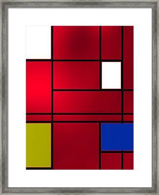 Composition 6 Framed Print by Alberto RuiZ