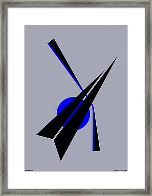 Composition Black Arrow Framed Print by Asbjorn Lonvig