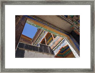 Composition 1, Thiksey, 2005 Framed Print