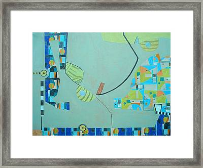 Composition II-07 Framed Print by Maria Parmo