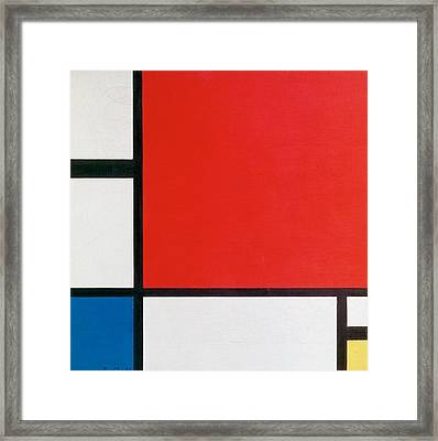 Composition II In Red, Blue, And Yellow - Piet Mondrian Framed Print