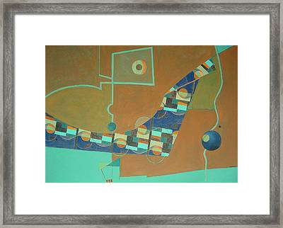 Composition IIi-07 Framed Print by Maria Parmo