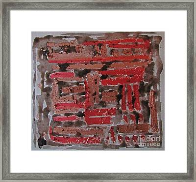 Composition In Red And Black Framed Print by John Malone