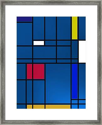 Composition M Over Blue Framed Print by Alberto RuiZ