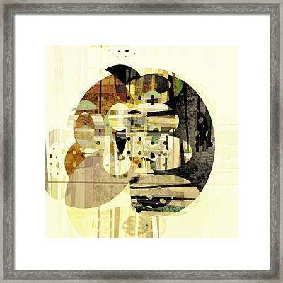 Composition Number Three Abstract Art Framed Print by Ann Powell