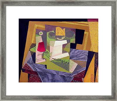 Composition On A Table Framed Print by Juan Gris