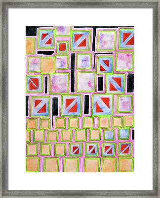 Composition Out Of Three Kind Of Squares Framed Print by Heidi Capitaine