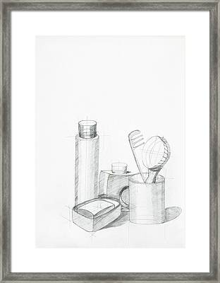 Composition With Objects Framed Print