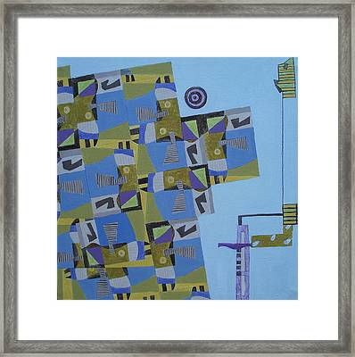 Composition Xi-07 Framed Print by Maria Parmo