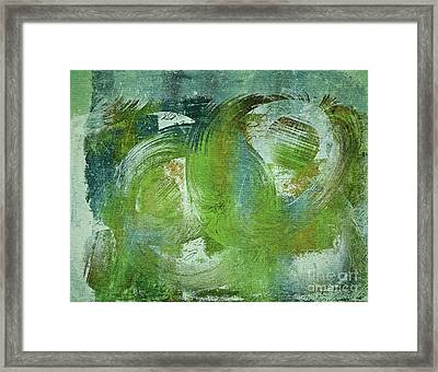 Composix - V55a - Green Framed Print by Variance Collections