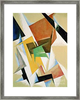 Compostion 1921 Framed Print by Lyubov Sergeevna Popova