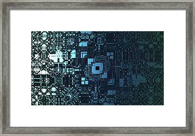 Computer Cirquit Framed Print