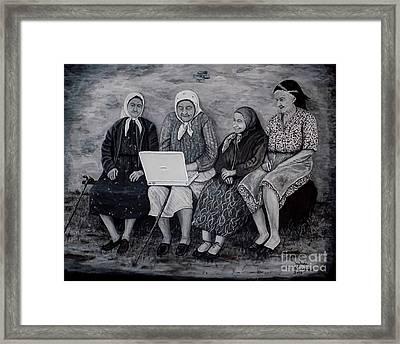Computer Class Framed Print by Judy Kirouac