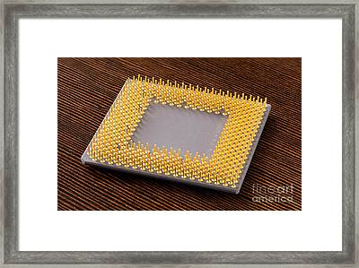 Computer Cpu Processor Chip Framed Print