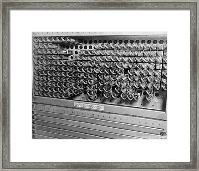 Computer Electrical Components Framed Print by Underwood Archives