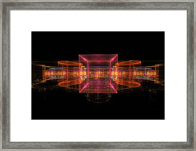 Computer Generated 3d Abstract Fractal Flame Modern Art Framed Print by Keith Webber Jr