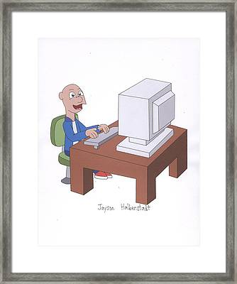 Computer Guy Framed Print