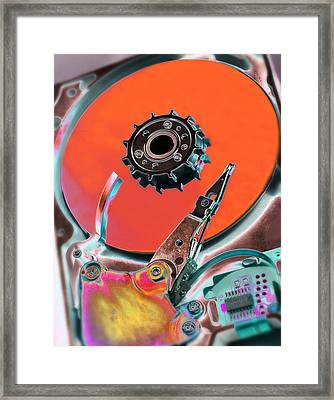 Computer Hard Disc Framed Print by Mark Sykes
