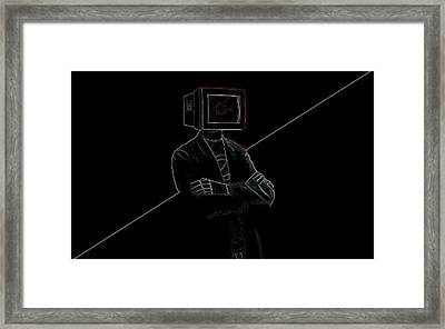 Computer Man Framed Print by Lanjee Chee