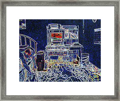 Computers And Wires Framed Print