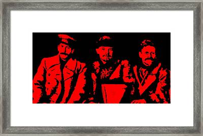 Comrades Stalin Lenin And Kalinin Framed Print