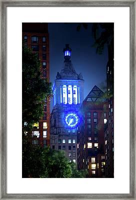Con Edison Clock Tower Framed Print