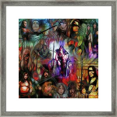 Conan The Barbarian Collage - Square Version Framed Print