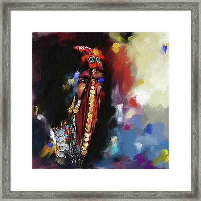 Concealed Beauty 452 I Framed Print by Mawra Tahreem