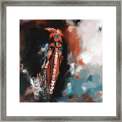Concealed Beauty 452 IIi Framed Print by Mawra Tahreem