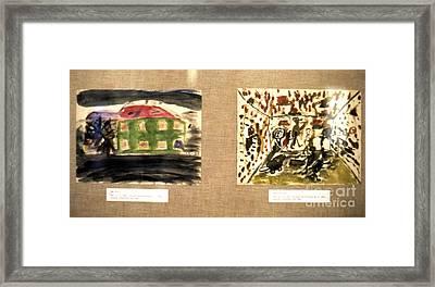 Concentration Camp Art Framed Print