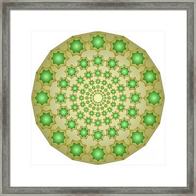 Concentric Octagons 187 Framed Print