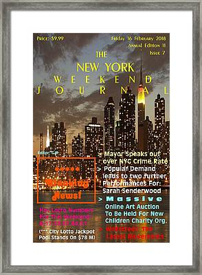 Concept Magazine Cover For The Imaginary New York Weekend Journal Of 16 February 2018.  Framed Print