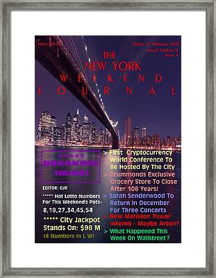 Concept Magazine Cover For The Imaginary New York Weekend Journal Of 23  February 2018 Framed Print