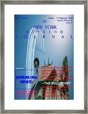 Concept Magazine Cover For The Imaginary New York Weekend Journal Of 9 February 2018. Nv Framed Print