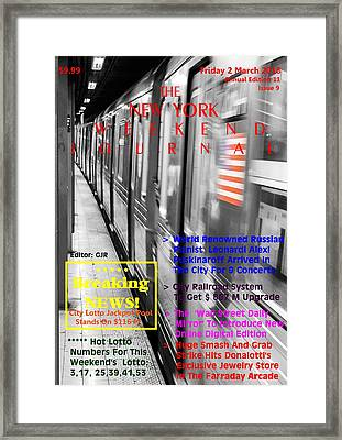 Concept Magazine Cover For The Imaginary New York Weekend Journal Of Friday 2 March 2018 Framed Print