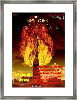Concept Magazine Cover For The Imaginary New York Weekend Journal 5 Jan 2018 V2 Framed Print