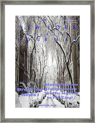 Concept Magazine Cover For The Imaginary New York Weekend Journal Of 12 Jan 2018 Framed Print