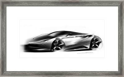 Concept Sportscar  Framed Print by Ryan Dickman