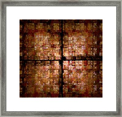 Framed Print featuring the digital art Conceptual Construct by Richard Ortolano
