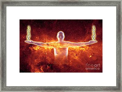 Conceptual Illustration Of Life Framed Print by George Mattei