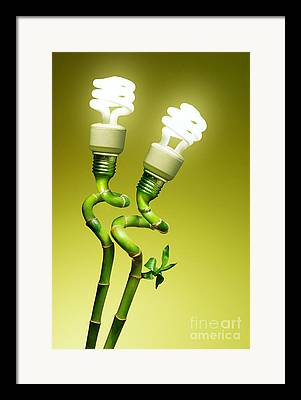Lightbulb Framed Prints