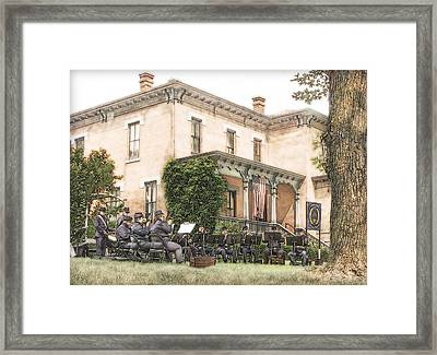 Concert At The Fort Framed Print by John Anderson