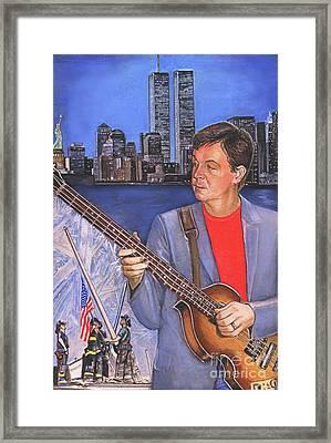 Concert For New York Framed Print
