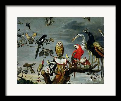 Cranes Paintings Framed Prints