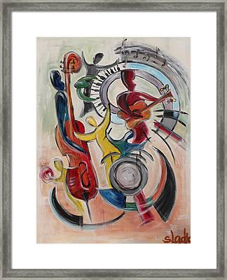 Framed Print featuring the painting Concert by Sladjana Lazarevic