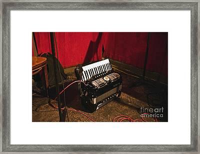 Concertina On The Floor Framed Print by Eddy Joaquim